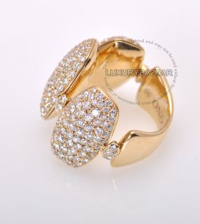 De Grisogono 18K Yellow Gold Diamond Oval Ring