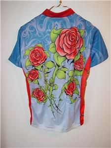 primal wear women s jersey cycling bike nwt every rose has its thorn
