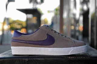 New Nike SB Blazer Low Iron Quasar Purple White