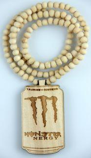 Hip Hop Fashion Good Wood Suit Tiles Pendant Ball Bead Chain Necklace