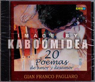 Gian Franco Pagliaro 20 Poemas de Amor Y Desamor CD New