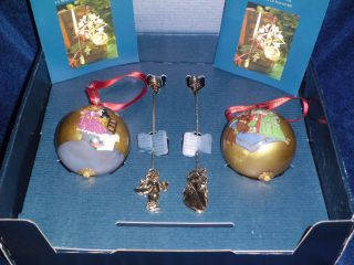 CHRISTIAN ANDERSEN COPENHAGEN CHRISTMAS ORNAMENTS SET DANISH DESIGN