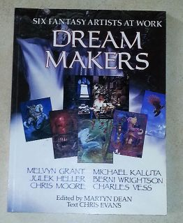 Makers: Six Fantasy Artists at Work PAPERBACK Chris Evans Martyn Dean