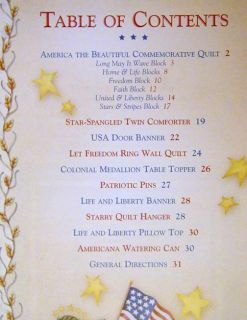 America The Beautiful Debbi Mumm Quilt Pattern Book Patriotic