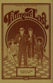 Duane Allman Brothers 1971 Final Fillmore East Program