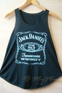 jack daniels print fashion top vest
