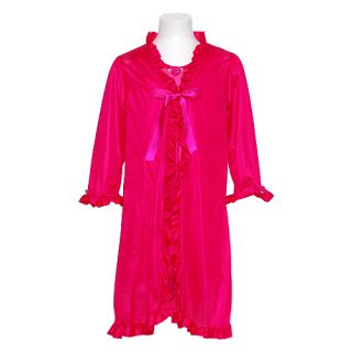 Laura Dare Little Girl Size 5 Fuchsia Nightgown Robe 2pc Sleepwear Set