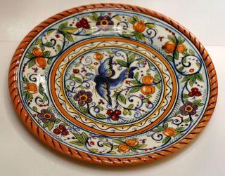 "DARIO FARRUCCI, ""Villa Paradiso"" Blue Bird , Hand Ptd Art Pottery"