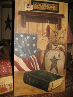 Faith Family Freedom Canvas Country Primitive Picture