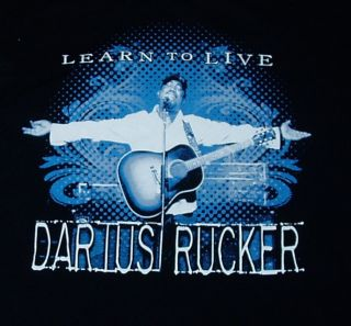 Darius Rucker 2010 Concert Tour T Shirt XL rem hootie lady antebellum