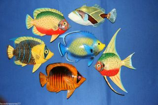 TROPICAL FISH, SEALIFE, BATH, ISLAND DECOR, AQUARIUM, SEASHELLS, CORAL