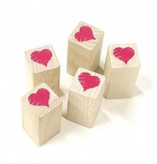 Decorative Stamps Rubber Stamp Heart Crayon