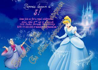 Cinderella Personalized Birthday Party Invitations Custom U Print