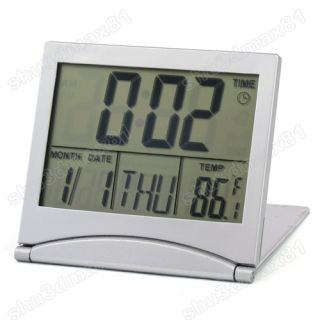 LCD desktop Alarm Clock Desk Calendar date/Time Indoor Thermometer