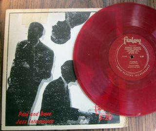 DAVE BRUBECK & PAUL DESMOND Jazz Interwoven FANTASY 3 20 RED Vinyl 10