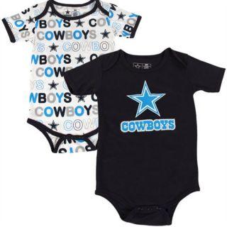 Dallas Cowboys Cutie Patootie Navy 2pk Onesie Set Baby Clothes Infant