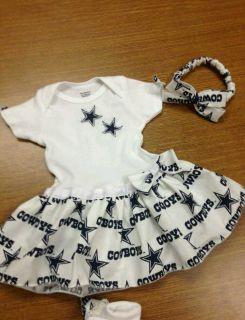 DALLAS COWBOYS ONESIE BABY DRESS