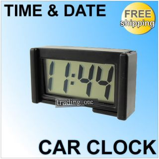 LCD Digital Car Clock Dashboard Desk Date Time HM050 C