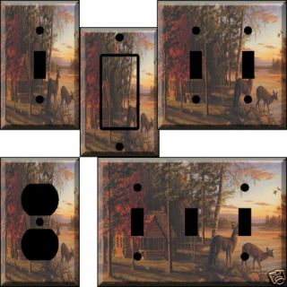 Deer Cabin ZF Light Switch Plate Cover Switchplate