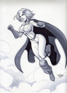 Sexy Power Girl original art by Scott Dalrymple
