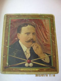 Champion 1910 Mecca Cigarette Tobacco Card John Daly Billiards