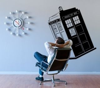 British Police Box Phone Booth London Wall Decor Decal