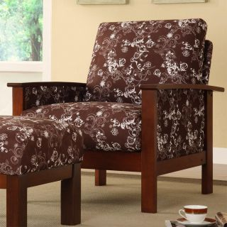 New Home Decor Living Room Furniture Hills Brown Floral Print Chair