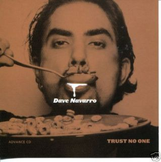 Dave Navarro Trust No One Promo Advance CD