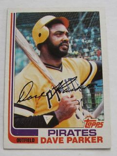 1982 Topps Dave Parker Pirates Card No 40