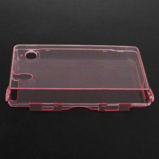 Pink Clear Hard Crystal Cover Case Fr Nintendo DSi NDSi