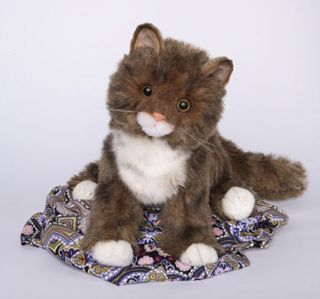 Davey Douglas Cuddle Plush 10 Long Maine Coon Brown Stuffed Cat Toy