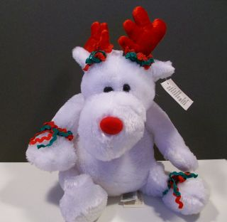 Dan Dee Collectors Choice White Plush Reindeer Holiday Trim 8
