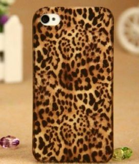 Leopard Print Skin Pattern Back Case Cover Skin for iPhone 4 4S