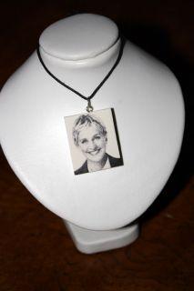 Ellen DeGeneres   Celebrity Pendant & Necklace   OOAK Handmade