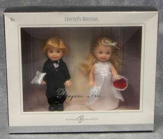 Mattel Barbie Tommy and Kelly Dolls Davids Bridal Perfect Pair Silver