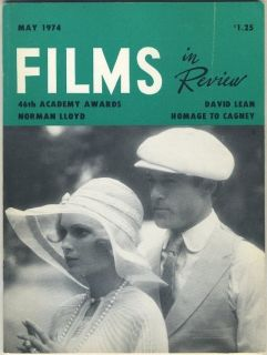 in Review May 1974 Robert Redford + Mia Farrow JAMES CAGNEY David Lean