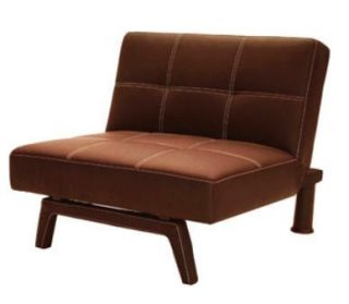 Delaney Large Chair Lounge Recliner Seat Couch Sofa Brown Faux Leather
