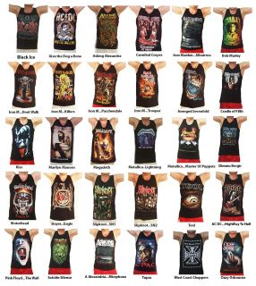 Iron Maiden Mens Metal Tank Top Vest Singlet Tee T Shirt T Shirts s M