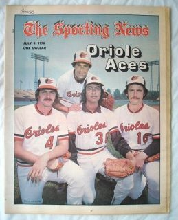 The Sporting News July 8 1978 Oriole Aces
