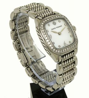gorgeous david yurman s steel silver diamonds watch