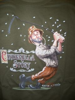 Caddyshack Cinderella Story T Shirt by David Okeefe   Size Large