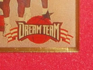 Dream Team USA Olympic Basketball 1996 96 Vtg Enamel Metal Pin Shaq
