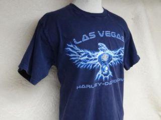HARLEY DAVIDSON t shirt LAS VEGAS L