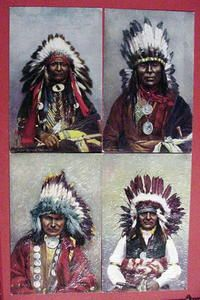Old Tucks Oilette Postcards Indians Eagle Feather War Bonnets