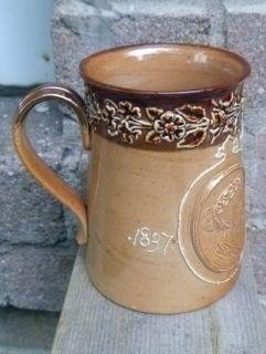 Doulton Lambeth Queen Victoria Diamond Jubilee Commemorative Stoneware