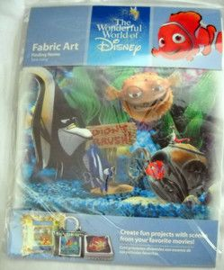 The Wonderful World of Disney Fabric Art Finding Nemo Tank Gang BNIP