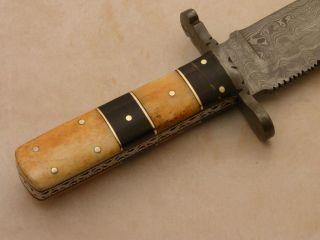 Steve Davis RARE Custom Damascus Bowie Knife Never Seen Before R 516