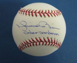 Mariano Rivera Yankees Autographed Signed Baseball Insc Enter Sandman