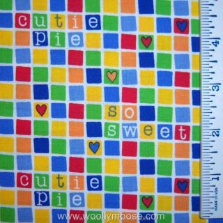 Half Yard Lil Ones Dena Designs Primary Color Blocks Words Quilting