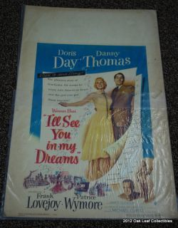 See You in My Dreams 14 x 22 Window Card Doris Day Danny Thomas